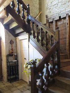 Foto van een authentieke Franse trap