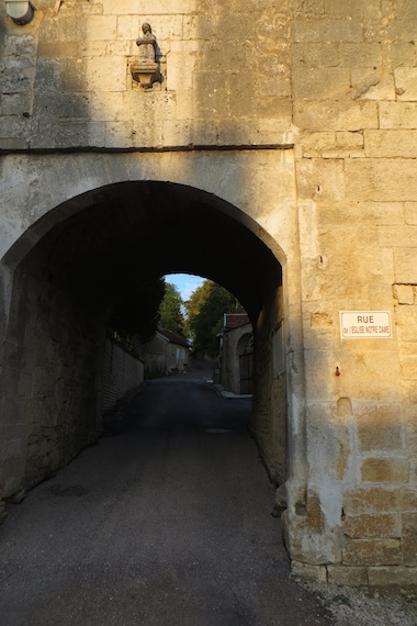 Small tunnel in authentic French Chateau