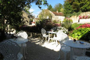 Eten op terras in Frankrijk